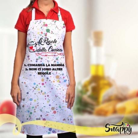 Grembiule da cucina full print COMANDA MAMMA