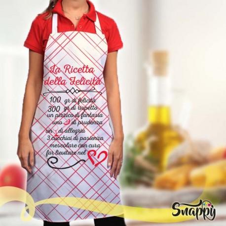 Grembiule da cucina full print RICETTA DELLA FELICITA'