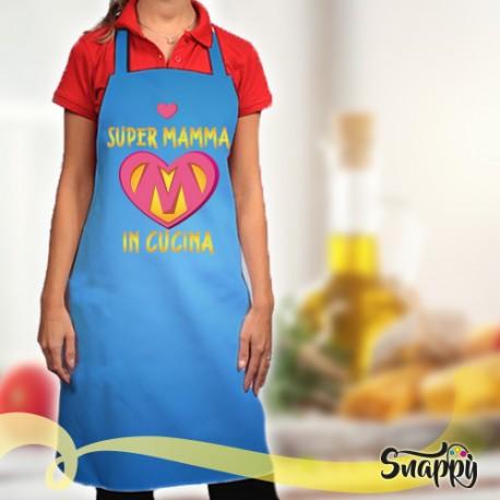 Grembiule da cucina full print SUPER MAMMA