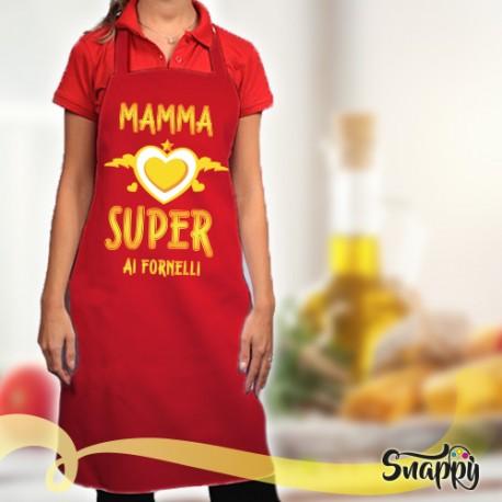 Grembiule da cucina full print MAMMA SUPER