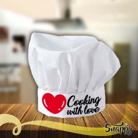 Cappello chef COOKING LOVE