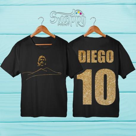 T shirt uomo glitterata Napoli DIEGO