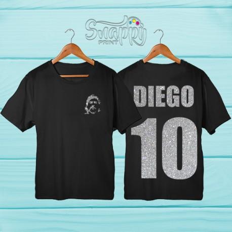 T shirt uomo glitterata Napoli EL PIBE DE ORO