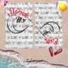 Coppia di teli mare personalizzati con nome MR & MRS INFINITY