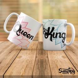 """Coppia di tazze """"KING & QUEEN"""""""