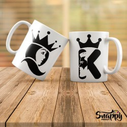 "Coppia di tazze ""HER KING & HIS QUEEN"""