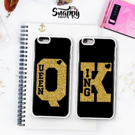 """Coppia di cover """"KING & QUEEN K Q"""""""