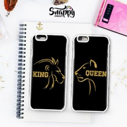 """Coppia di cover """"King & Queen LION and LIONESS"""""""