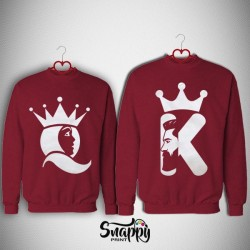 Coppia felpe King&Queen Profil Color