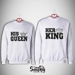 Coppia felpe King&Queen His&Her