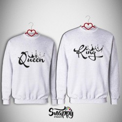 Coppia felpe King&Queen Graffiti