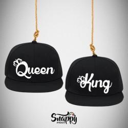 Coppia di cappelli Snapback KING & QUEEN