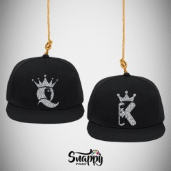 Coppia di cappelli Snapback HER KING HIS QUEEN