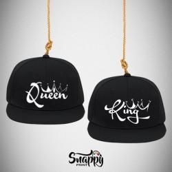 Coppia di cappelli Snapback Graffiti KING E QUEEN