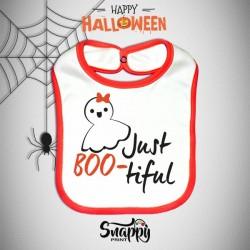 Bavaglino Personalizzato Halloween Just BOO-tiful
