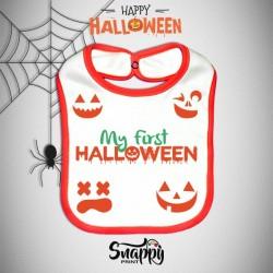 Bavaglino Personalizzato Halloween Little Pumpkin
