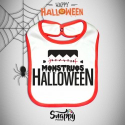Bavaglino Personalizzato Halloween Monstruos