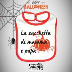 Bavaglino Personalizzato Halloween Zucchetta