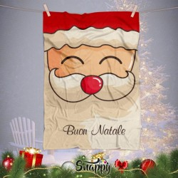 "Coperta In Pile Plaid Natalizia Idea Regalo ""BABBO NATALE"""