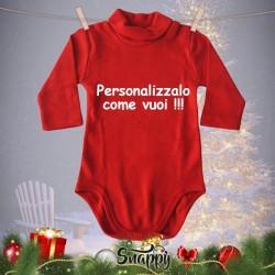 """Lupetto Neonato Rosso Natalizio Lupetti Natale """"PERSONALIZZATO"""""""