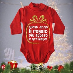 """Lupetto Neonato Rosso Natalizio Lupetti Natale """"GIFT"""""""