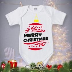 """Body Bodino Personalizzato Neonato Natalizio Natale """"CHRISTMAS BALL"""""""