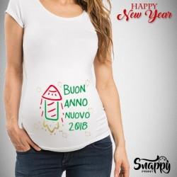"""T-Shirt Premaman Capodanno """"RAZZO"""""""