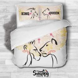 Copripiumino personalizzato King e Queen Lion e Lioness