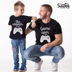 """T-shirt Padre e figlia figlio """"Player"""""""