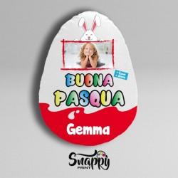 """Cuscino Uovo di Pasqua Personalizzato con Foto e nomi """"SORPRESA"""""""