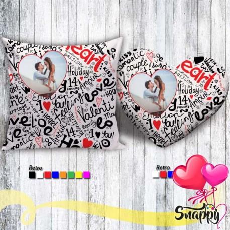 Cuscino personalizzato con foto 40X40 HEART