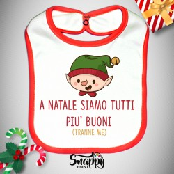 """Bavaglino Bavetta Natalizio Natale Neonato """"ELFO"""""""