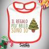 """Bavaglino Bavetta Natalizio Natale Neonato """"ALBERELLO"""""""