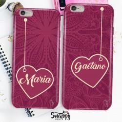 """Coppia cover case custodia cellulare smartphone personalizzate king e queen """"ELEGANT"""""""