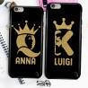 """Coppia cover case custodia cellulare smartphone personalizzate king e queen""""Profil"""""""