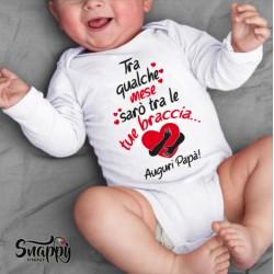 Body personalizzato neonato baby Tra le tue braccia