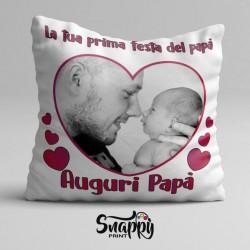 """Cuscino personalizzato festa del papà """"AUGURI PAPà"""""""