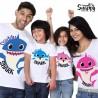 """Tris o Poker t-shirt magliette famiglia personalizzate """"FAMILY SHARK"""""""