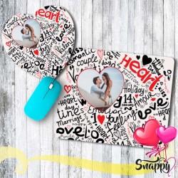 """Mousepad personalizzato con foto """"HEART"""""""