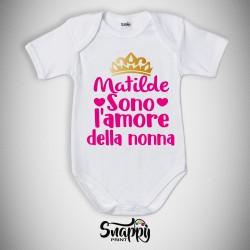 """Body bodino neonato festa dei nonni """"L'AMORE DEI NONNI"""""""