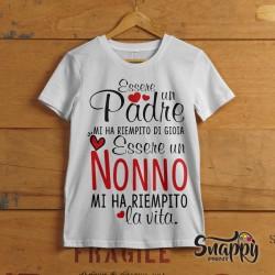 """T Shirt Uomo Idea Regalo Festa dei Nonni """"NONNI VITA"""""""