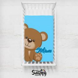 Trapunta copertina plaid personalizzato neonato orsetto