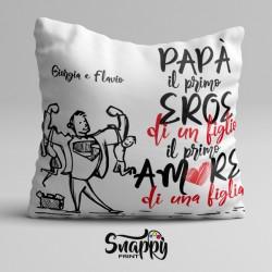 """Cuscino personalizzato festa del papà """"AMORE&EROE"""""""