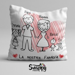 """Cuscino personalizzato festa del papà """"FAMIGLIA"""""""
