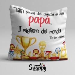 """Cuscino personalizzato festa del papà """"PREMIATO"""""""