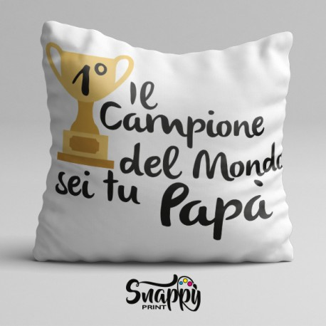 """Cuscino personalizzato festa del papà """"PRIMO PREMIO"""""""