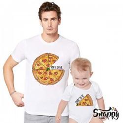 """T-shirt Magliette Padre e figlia figlio """"PIZZA"""""""
