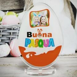 """Targa in Plexiglass Idea Regalo Pasqua """"Ovetto Goloso Personalizzato con Foto"""""""