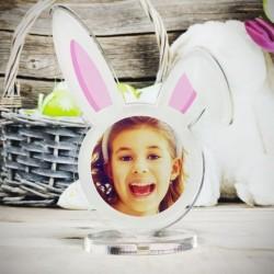 """Targa in Plexiglass Idea Regalo Pasqua """"Coniglietto Personalizzato con Foto"""""""