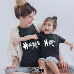 T shirt Mamma - Figlio/a LIFE